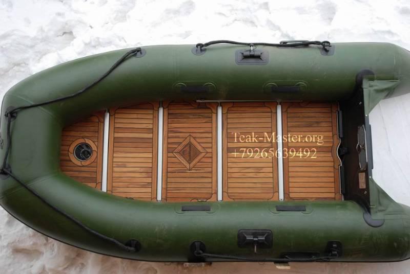 как сделать настил для резиновой лодки